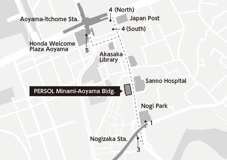 Aoyama Itchome On Subway Map.Access Corporate Profile Company Info Persol Group